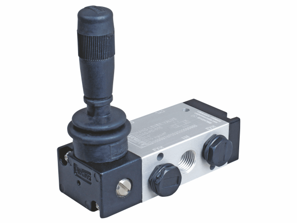 5/3 hand lever valve detent